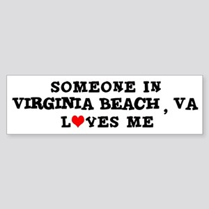 Someone in Virginia Beach Bumper Sticker