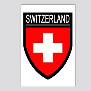 Switzerland Flag Patch Postcards (Package of 8)