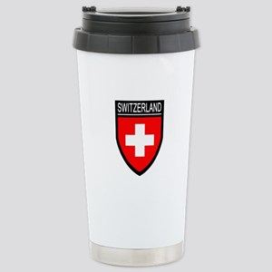 Switzerland Flag Patch Stainless Steel Travel Mug