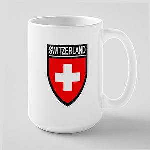 Switzerland Flag Patch Large Mug