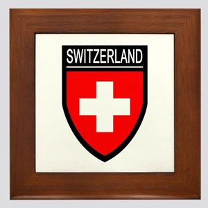 Switzerland Flag Patch Framed Tile