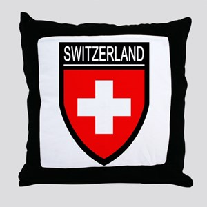 Switzerland Flag Patch Throw Pillow