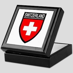 Switzerland Flag Patch Keepsake Box