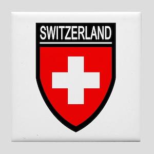 Switzerland Flag Patch Tile Coaster