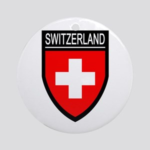 Switzerland Flag Patch Ornament (Round)
