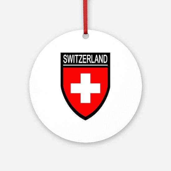 Switzerland Flag Patch Ornament (Round)