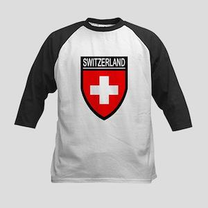 Switzerland Flag Patch Kids Baseball Jersey
