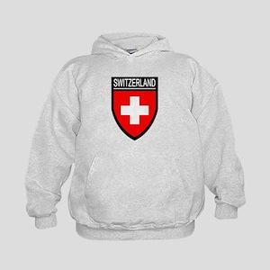Switzerland Flag Patch Kids Hoodie