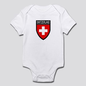 Switzerland Flag Patch Infant Bodysuit