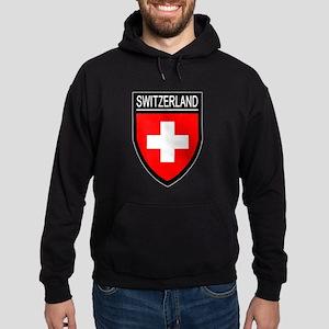 Switzerland Flag Patch Hoodie (dark)