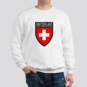 Switzerland Flag Patch Sweatshirt