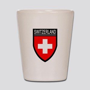 Switzerland Flag Patch Shot Glass
