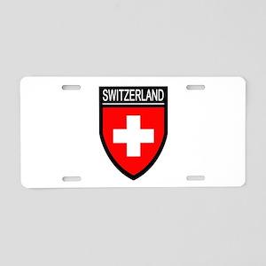 Switzerland Flag Patch Aluminum License Plate