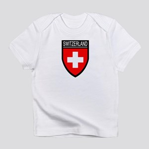 Switzerland Flag Patch Infant T-Shirt