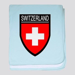 Switzerland Flag Patch baby blanket