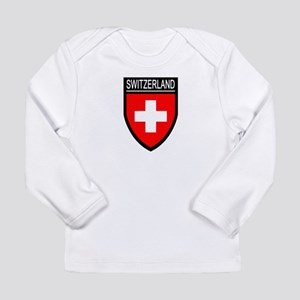 Switzerland Flag Patch Long Sleeve Infant T-Shirt