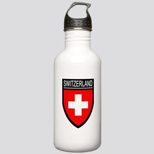 Switzerland Flag Patch Stainless Water Bottle 1.0L