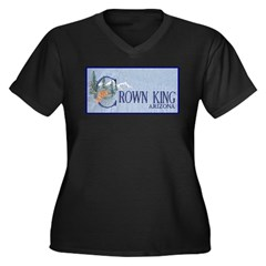 Crown King Women's Plus Size V-Neck Dark T-Shirt