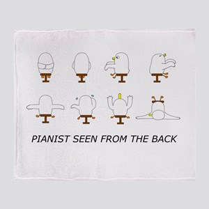 Pianist Seen from the Back (w Throw Blanket