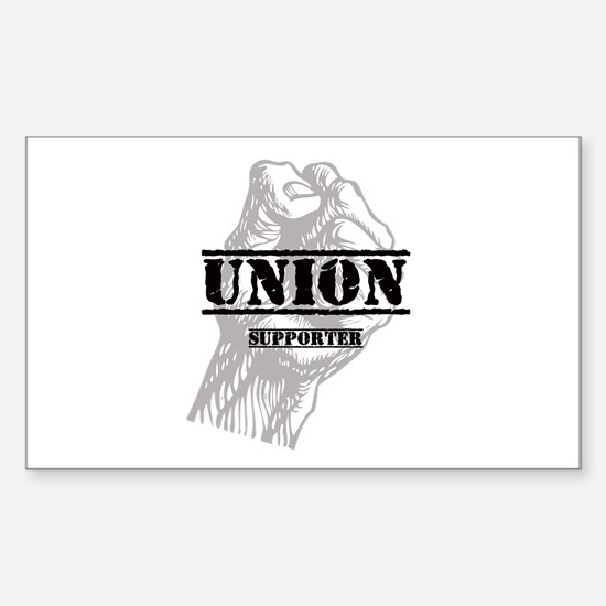 Union Supporter Sticker (Rectangle)