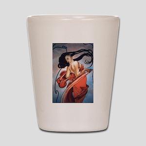 Alphonse Mucha Shot Glass