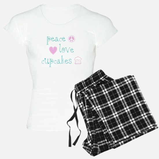 Peace, Love and Cupcakes Pajamas