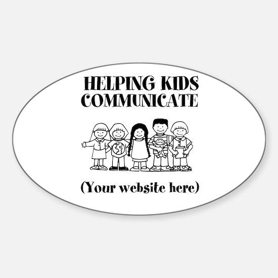 Helping Kids Communicate Sticker (Oval)