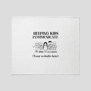 Helping Kids Communicate Throw Blanket