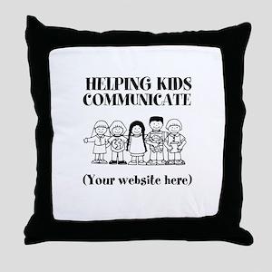 Helping Kids Communicate Throw Pillow