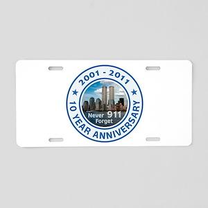 911 Anniversary Aluminum License Plate