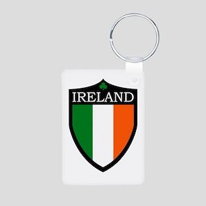Ireland Flag Patch Aluminum Photo Keychain