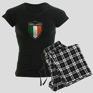 Ireland Flag Patch Women's Dark Pajamas