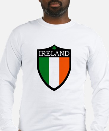 Ireland Flag Patch Long Sleeve T-Shirt
