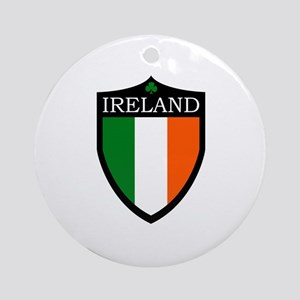 Ireland Flag Patch Ornament (Round)