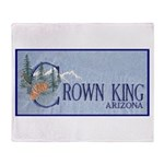 Crown King Throw Blanket