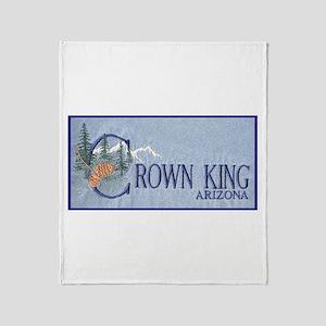 Crown King Throw Blanket