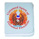 Untamed WY Spirit baby blanket
