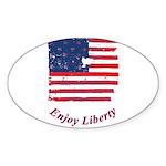 Enjoy Liberty Sticker (Oval 50 pk)