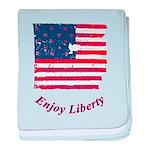 Enjoy Liberty baby blanket