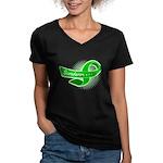 Kidney Disease Survivor Women's V-Neck Dark T-Shir