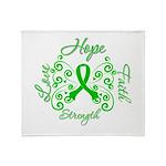 Kidney Disease Hope Faith Deco Throw Blanket