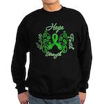 Kidney Disease Hope Faith Deco Sweatshirt (dark)