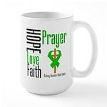 Kidney Disease Hope Prayer Large Mug