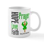 Kidney Disease Hope Prayer Mug