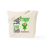 Kidney Disease Hope Prayer Tote Bag
