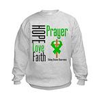 Kidney Disease Hope Prayer Kids Sweatshirt
