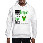 Kidney Disease Hope Prayer Hooded Sweatshirt