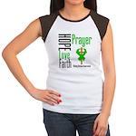Kidney Disease Hope Prayer Women's Cap Sleeve T-Sh