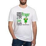 Kidney Disease Hope Prayer Fitted T-Shirt