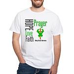 Kidney Disease Hope Prayer White T-Shirt